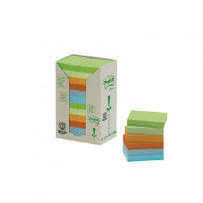 Post-it® Haftnotiz Recycling Pastell Rainbow Notes Tower  24 Block/Pack.
