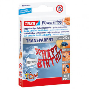 tesa® Klebepad Powerstrips® transparent Deco