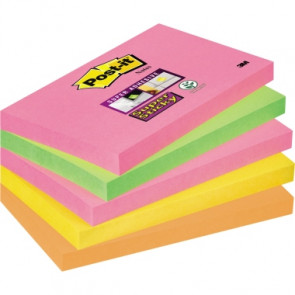 Post-it® Haftnotiz Super Sticky Neon Notes