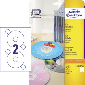 Avery Zweckform CD/DVD Etikett  25 Bl./Pack.