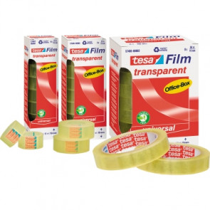 tesa® Klebefilm tesafilm® transparent Office-Box  25 mm 10 Rl./Pack.