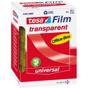 tesa® Klebefilm tesafilm® transparent Office-Box  76 mm 12 Rl./Pack.