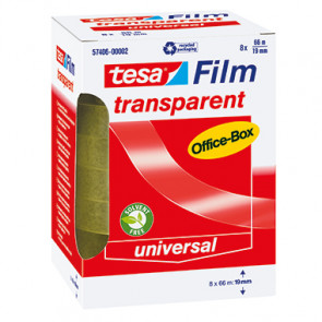 tesa® Klebefilm tesafilm® transparent Office-Box  76 mm 8 Rl./Pack.