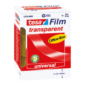 tesa® Klebefilm tesafilm® transparent Office-Box  76 mm 6 Rl./Pack.
