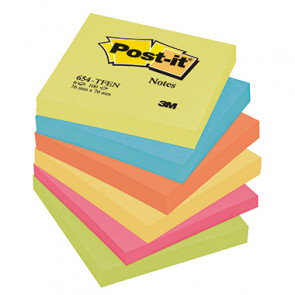 Post-it® Haftnotiz Active Collection Notes  76 x 76 mm (B x H) 6 Block/Pack.