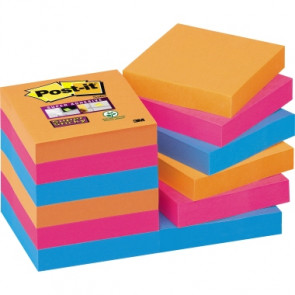 Post-it® Haftnotiz Super Sticky Notes Bangkok Collection  12 Block/Pack.
