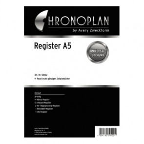 Chronoplan Einlage Kalender Register  DIN A5