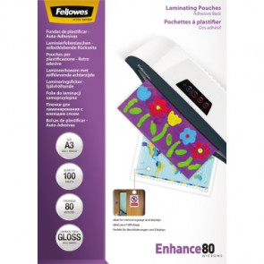 Fellowes® Laminierfolie Enhance 80  DIN A3