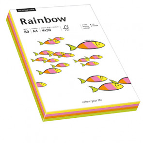 Rainbow Multifunktionspapier Color  200 Bl./Pack.