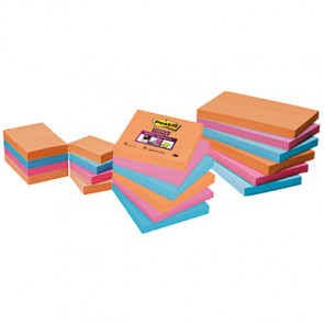 Post-it® Haftnotiz Super Sticky Notes Bangkok Collection  6 Block/Pack.