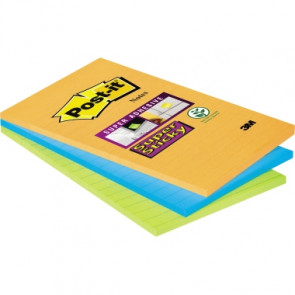 Post-it® Haftnotiz Super Sticky Notes liniert  101 x 152 mm (B x H) 3 Block/Pack.