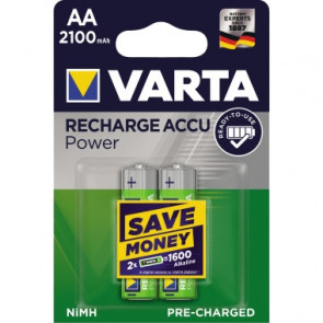 Varta Akku Recharge Accu Power  AA/Mignon 2 St./Pack.