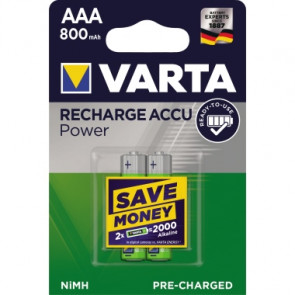 Varta Akku Recharge Accu Power  AAA/Micro 2 St./Pack.