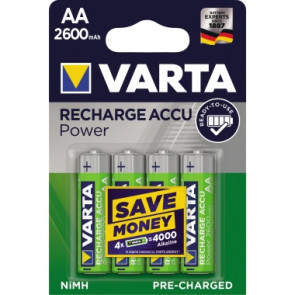 Varta Akku Recharge Accu Power  AA/Mignon 4 St./Pack.