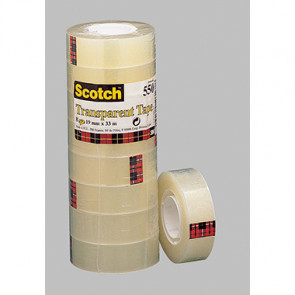 Scotch® Klebefilm 550  19 mm x 33 m (B x L) 8 St./Pack.